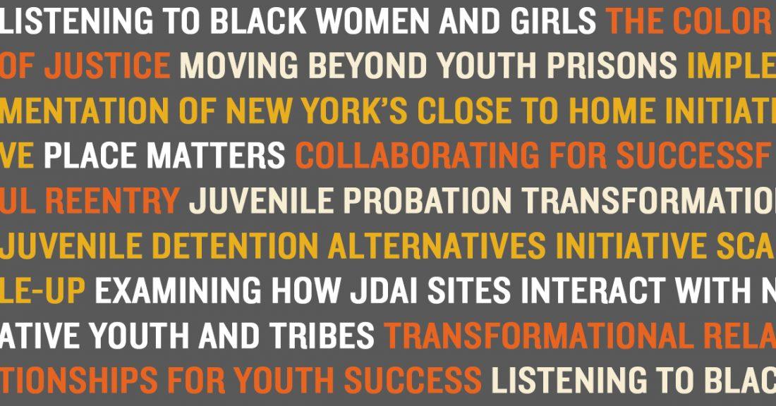 Titles of recent publications about juvenile justice