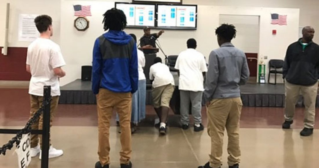 Young people at a community center in Savannah.