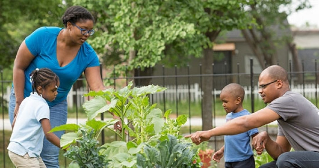 A community garden in Atlanta, supported by the Casey Foundation's Community Investment Fund