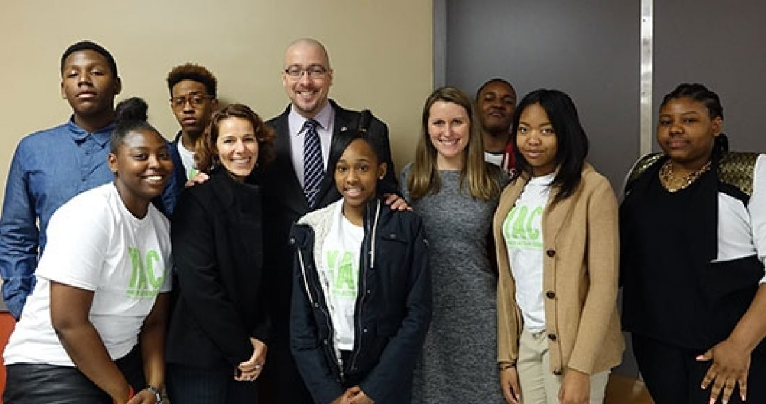 Tanya Krupat with a group of youth advocates