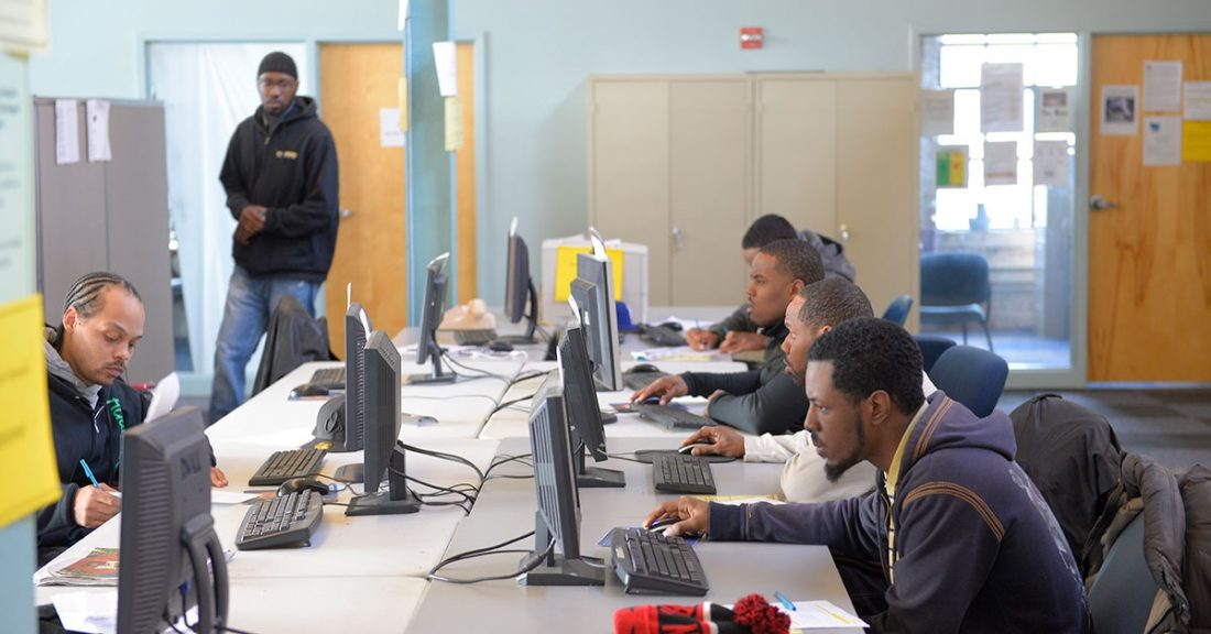 Young people learning skills for employment.
