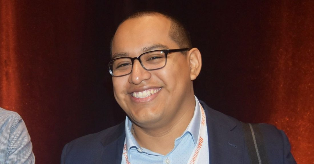 Hernan Carvente-Martinez smiles at the camera.