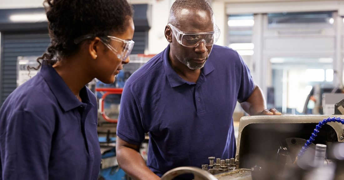 Picture of job training taking place for young people in Cleveland, Ohio.