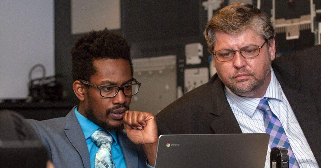 Training professionals helps a job seeker learn new skills.