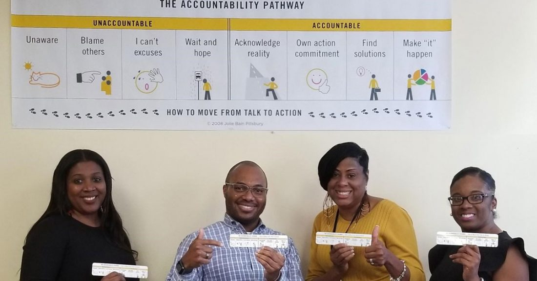 Leaders in Atlanta review the Results Count's Accountability Pathway framework