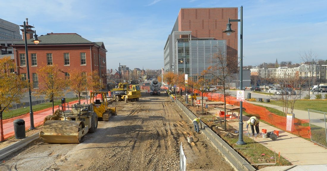 Building site in East Baltimore