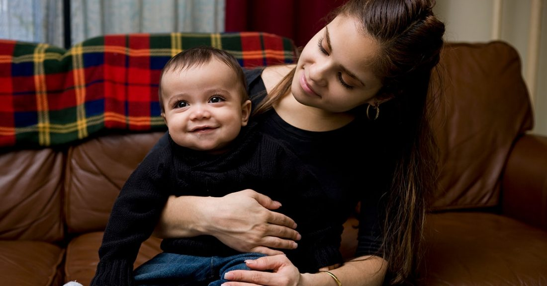 Baby with Latina mother