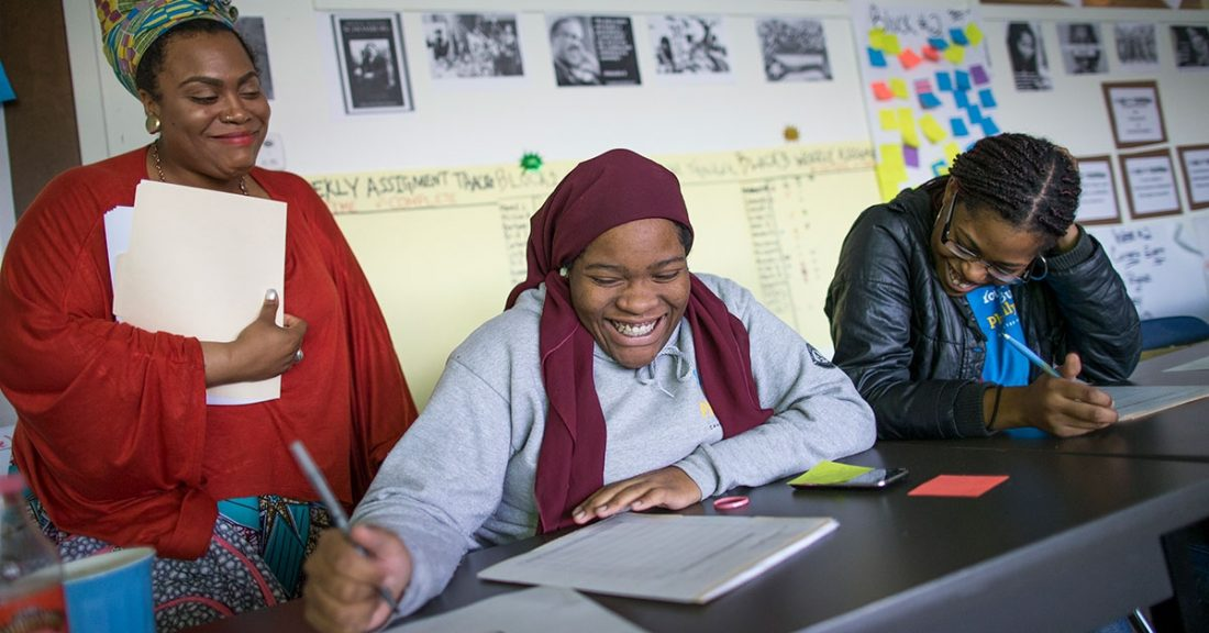 Youth learn skills that will connect them to school and careers.