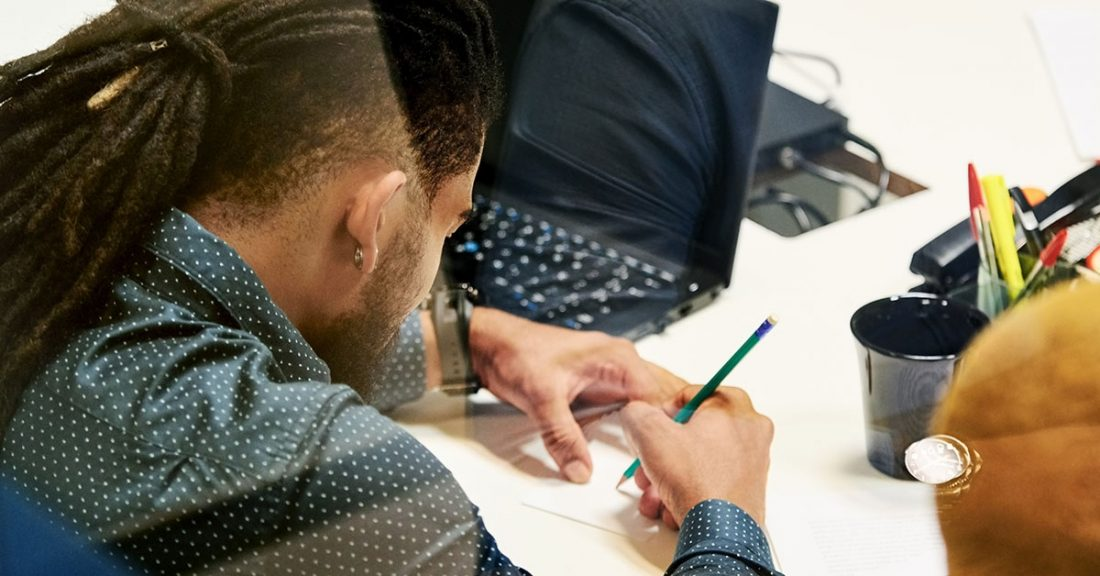 A juvenile justice professional does an assessment exercise
