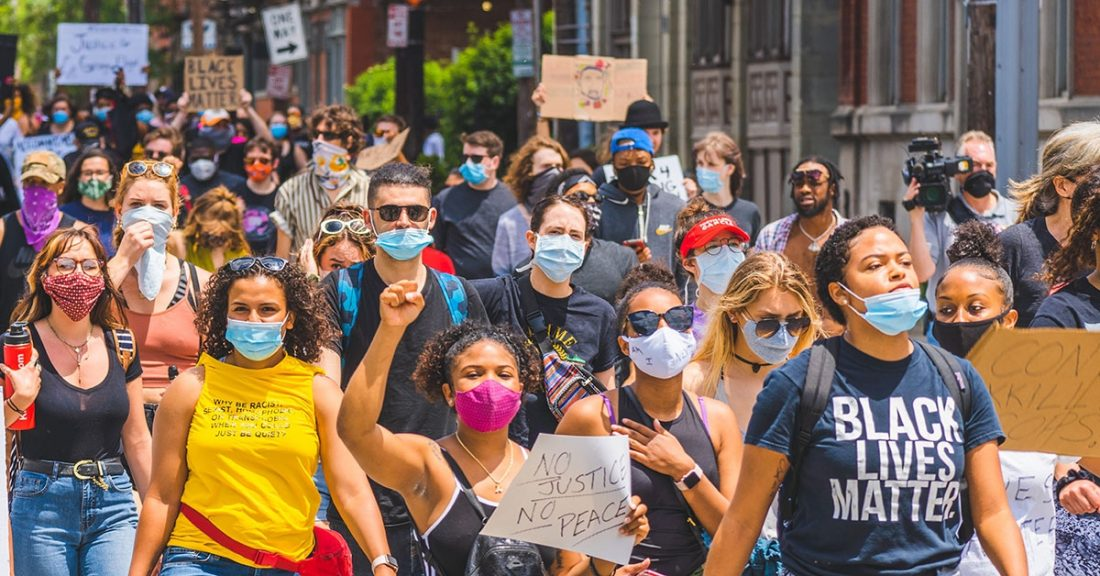 Protests against George Floyd's Death with photo provided by Julian Wan on Unsplash