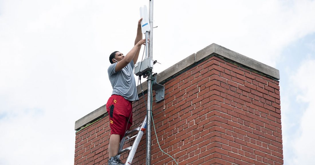 Open WiFi point added to Baltimore community