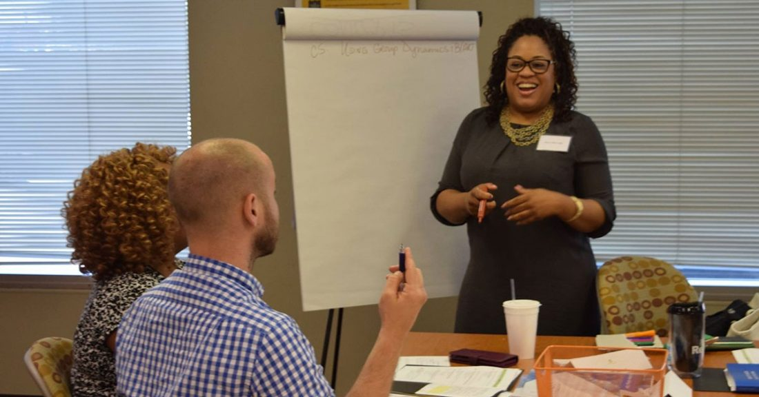 StriveTogether leaders work on strategies that improve the well-being of their community's children.