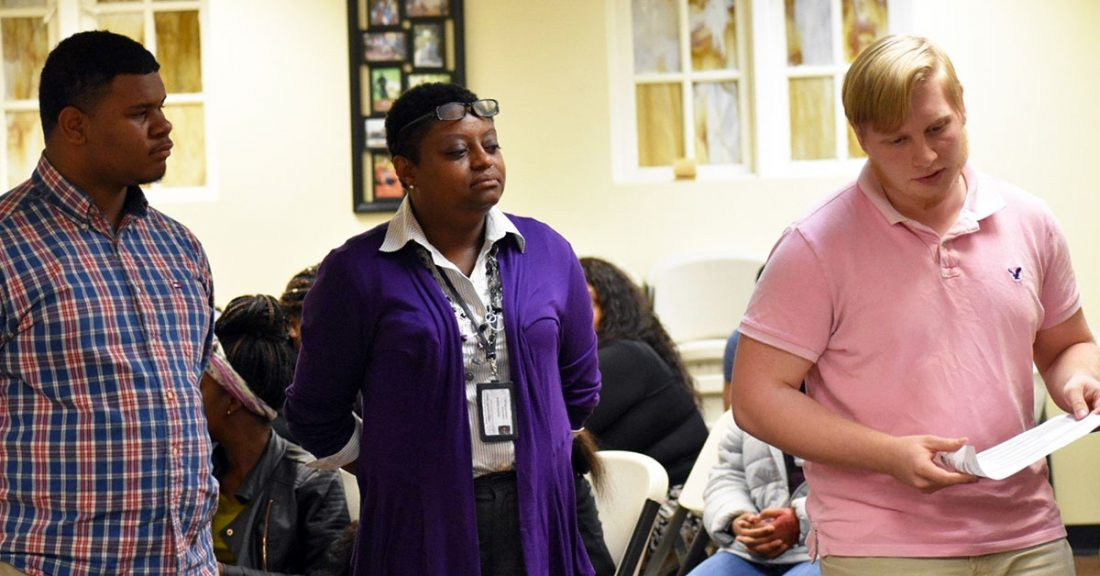 Young people and partners lead a town hall on experiences of youth from foster care