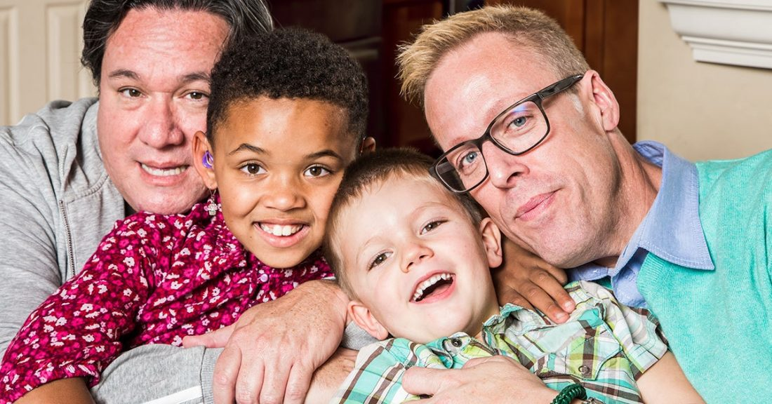 Foster parents with children