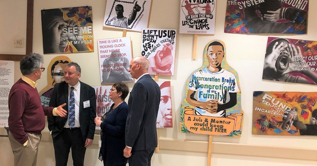 Vincent Schiraldi, Mark Mertens, Gladys Carrión and Patrick McCarthy