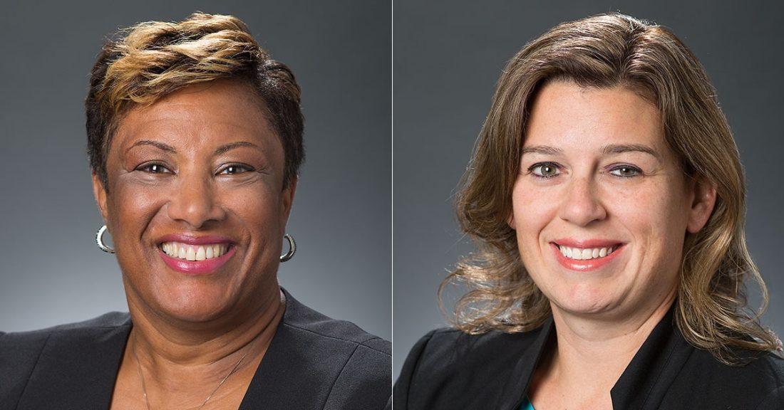 Kimberley Brown and Katie Tetrault