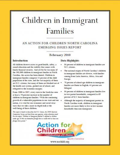 AC Childrenin Immigrant Families 2010 cover