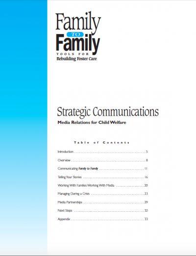 AECF 2000 Strategic Comm Media Relations for Child Welfare