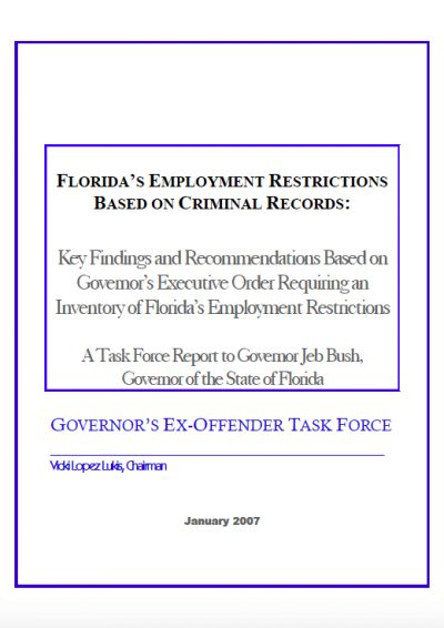 AECF 2007 Florida Employment Restrictions