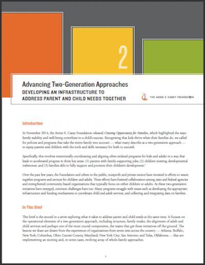 AECF Advancing2 Generation Approaches Infrastructure 2017 cover