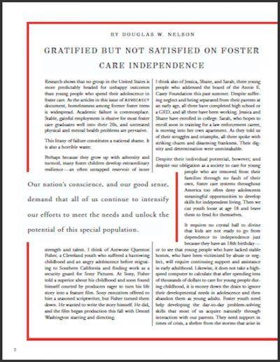 AECF Advocasey Fall 2001 cover