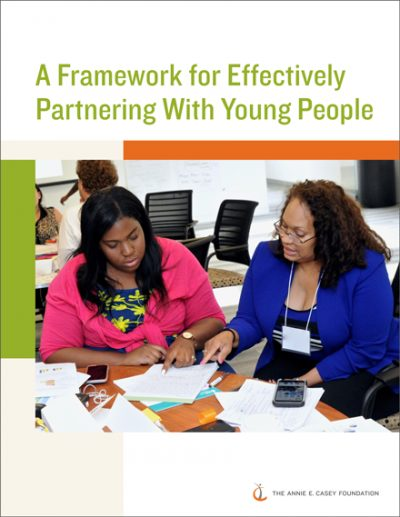 A framework for effectively partnering with young people