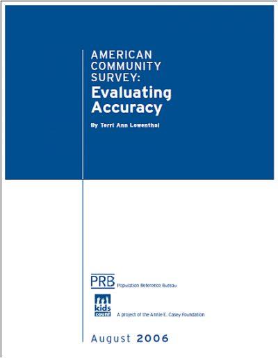 Aecf American Community Survey2006 cover