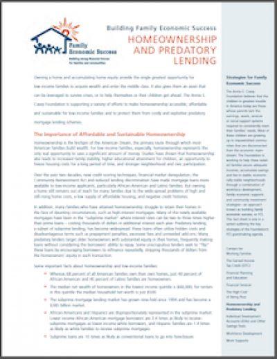 AECF BFES Homeownershipand Predatory Lending 2005 cover