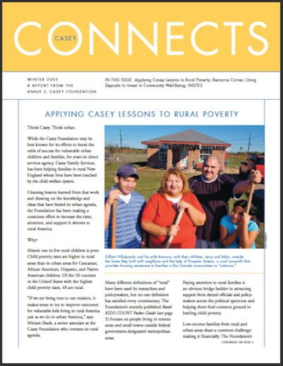AECF Casey Connects Applying Casey Lessonsto Rural Poverty 2005 cover