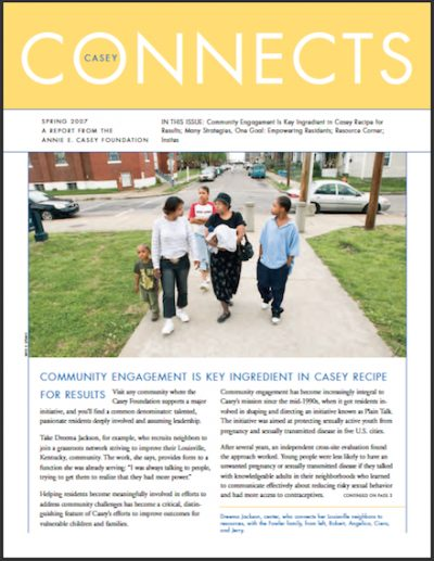 AECF Casey Connects Community Engagement 2007 cover