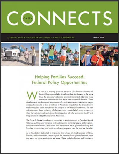 AECF Casey Connects Helping Families 2009 cover