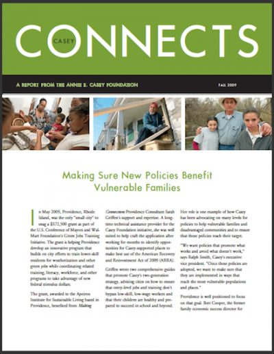 AECF Casey Connects Making Sure New Policies 2009 cover
