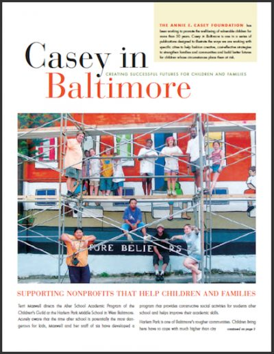 AECF Caseyin Baltimore Supporting Nonprofits 2007 cover