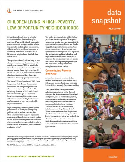 Children living in high-poverty, low-opportunity communities.