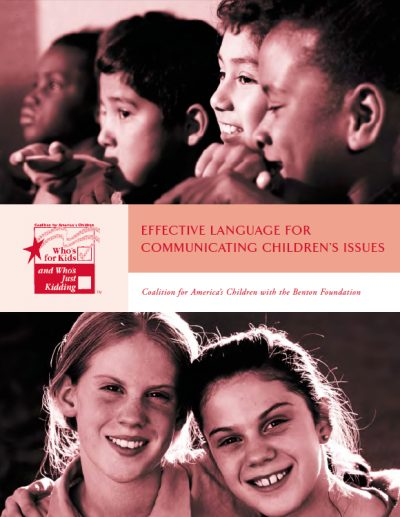 AECF Effective Languagefor Communicating Childrens Issues 1999