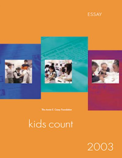 AECF High Costof Being Poor Kids Count Essay 2003 cover