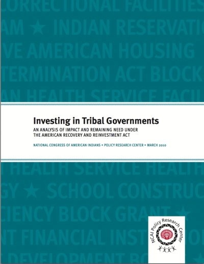 AECF Investingin Tribal Governments An Analysisof ARRA 2010 COVER