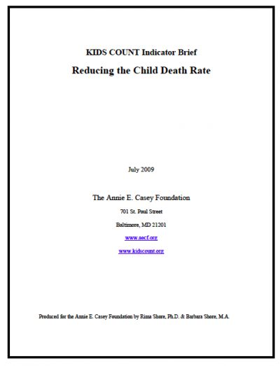AECF KC Reducing Child Death Rate 2009