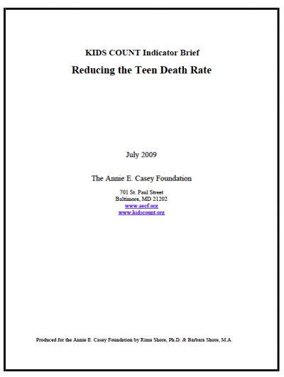 AECF KC Reducing Teen Deaths 2009
