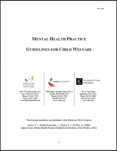 AECF Mental Health Practice 2009 cover