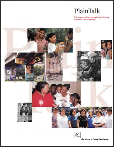 AECF Plain Talk The Storyof Commmunity Based Strategy 1998 cover