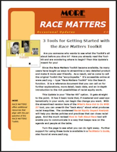 AECF Race Matters 3 Toolsfor Getting Started 2006 cover