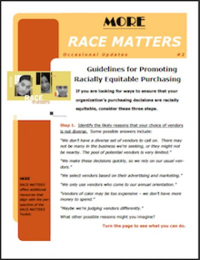 AECF Race Matters Guidelinesfor Promoting 2006 cover