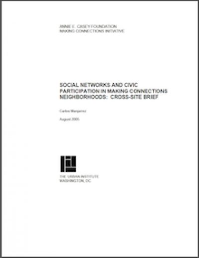 AECF Social Networksand Civic Participation 2005 cover