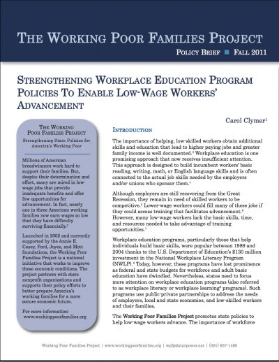 AECF Strengthening Workplace Education Program Policies 2011 COVER
