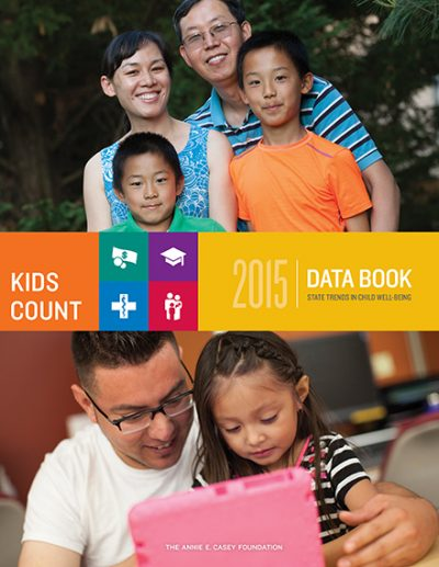The 2015 KIDS COUNT Data Book cover