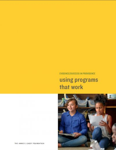 AECF Using Programs That Work 2017 cover