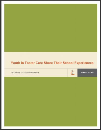 AECF Youthin Foster Care Share Their School Experiences 2014 cover