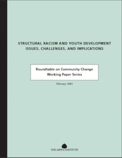 AI Structural Racismand Youth Development 2004 cover