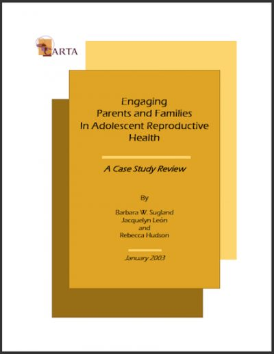 CARTA Engaging Parentsand Famlies 2003 cover